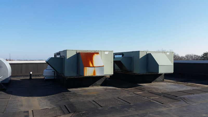 20 ton rooftop unit before replacement