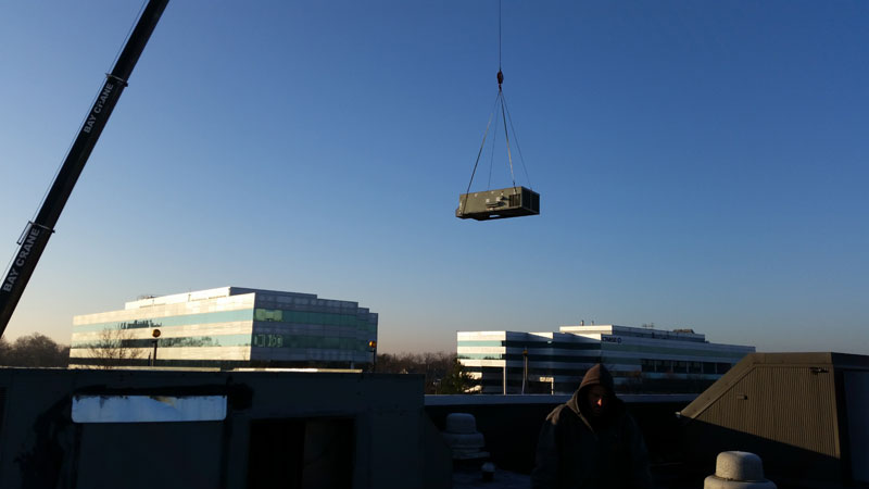 20 ton rooftop unit replacements during installation
